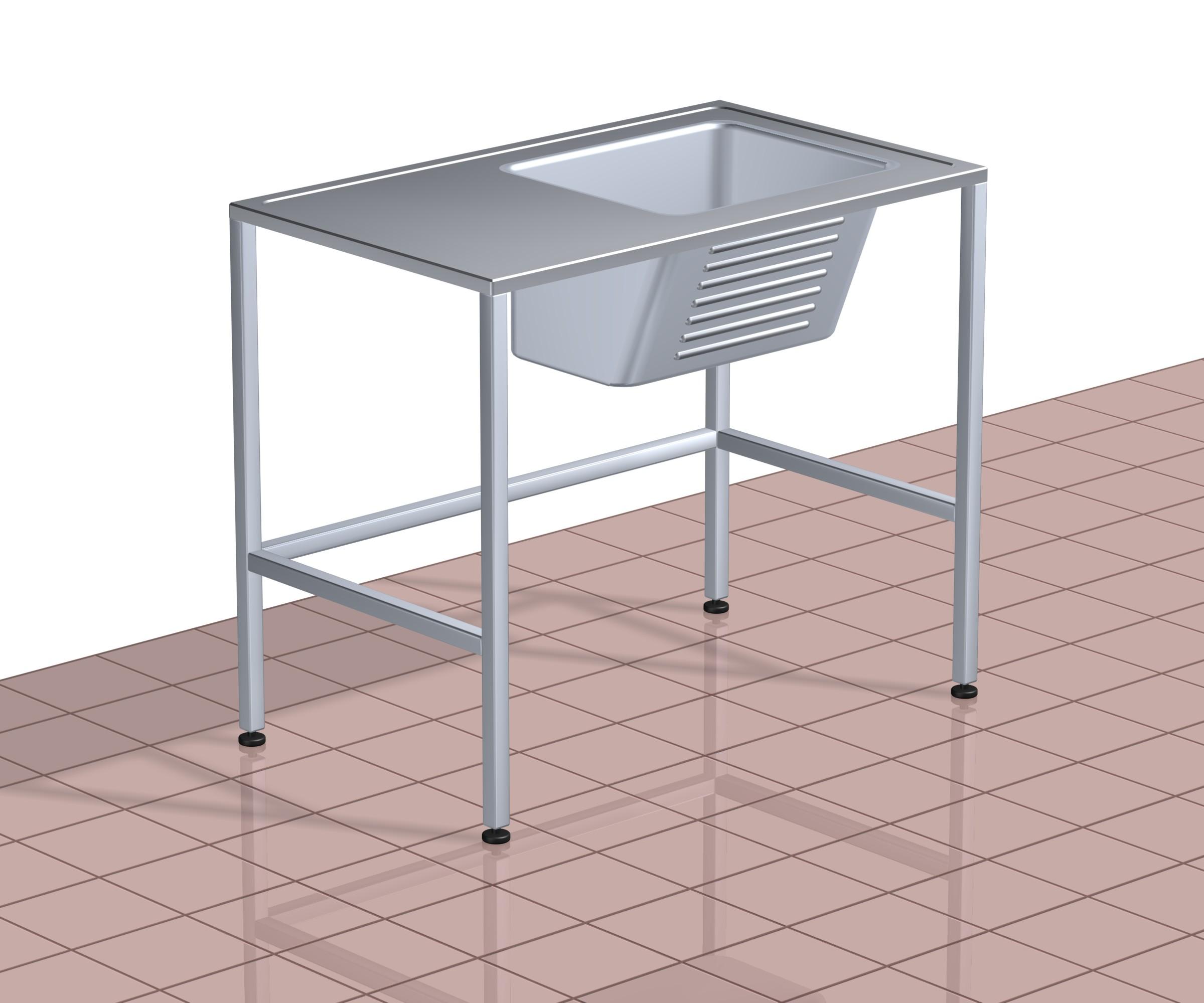 Pesuallaspöytä TPAP 1000 RST (O tai V)