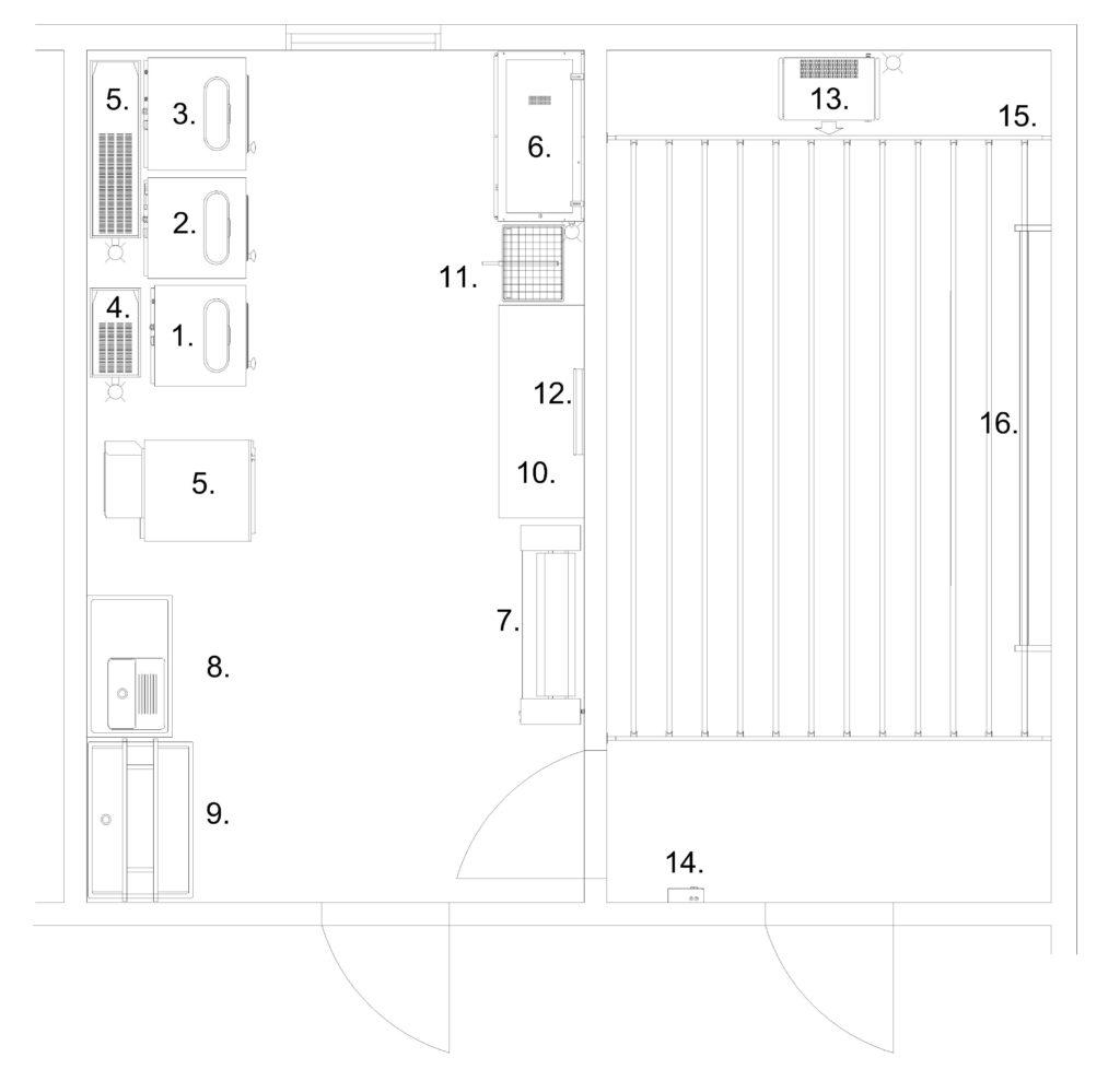 TALPET malliratkaisu 3: korttelipesula ja kuivaushuone, Talopesulat Oy